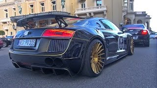 Audi R8 PD GT850 Prior Design - Lovely Downshifts & Acceleration Sounds!