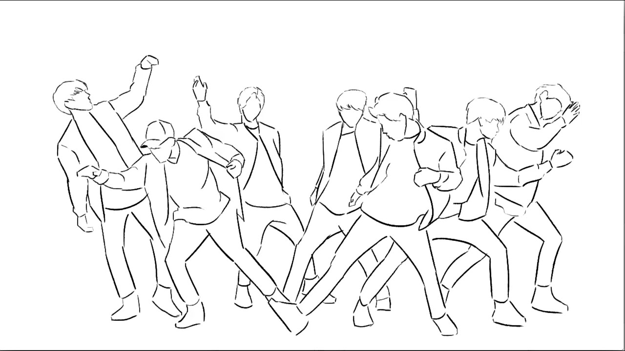 Bts V Coloring Pages Related Keywords
