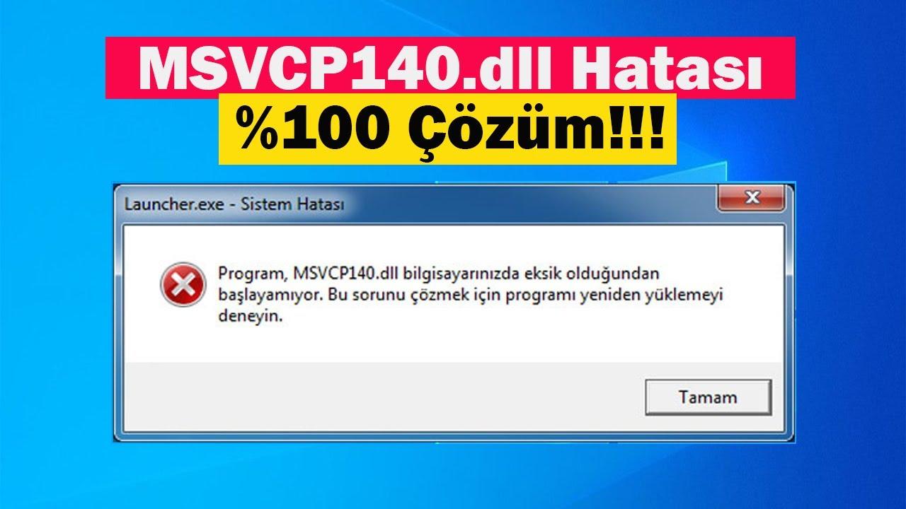 MSVCP140.dll Hatası | %100 Çözüm! | PUBG Lite ve Diğer Oyunlar!!!