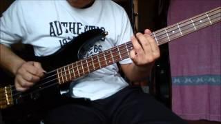 ベース弾いてみました。 音を間違えないようになぞっているだけなのでつ...