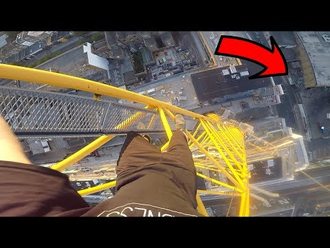 CLIMBING CRANE NEXT TO POLICE STATION!