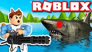 Roblox | KIA XÁCH 6 NÒNG ĐI SĂN CÁ MẬP VAMY - SharkBite 🦈 | KiA Phạm