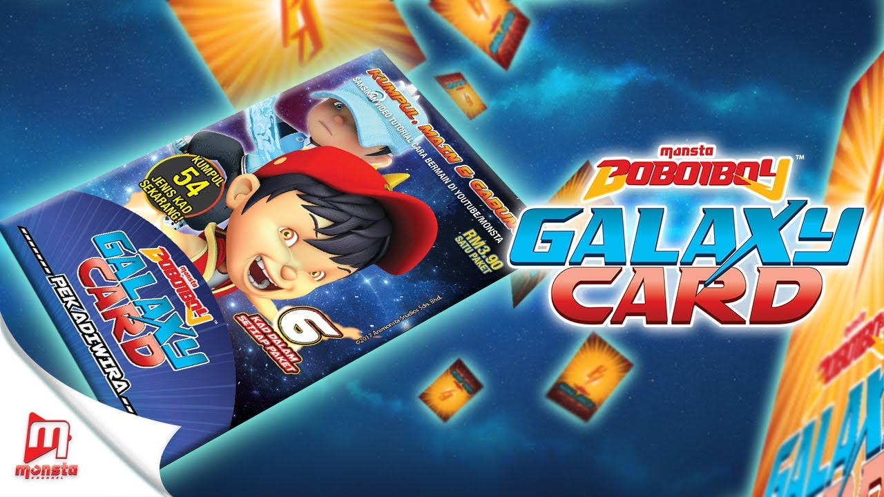 Boboiboy Galaxy Card Pek Boboiboy Api Air Unpacking Youtube