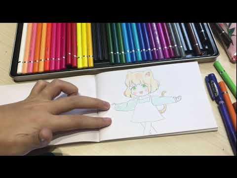 vẽ tranh chibi tô phối màu