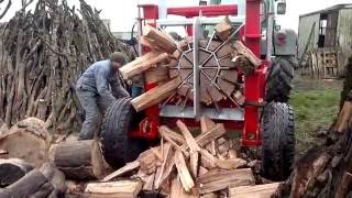 Repeat youtube video 100 Ways to Split Firewood. Best Cleaver, Saw and Log Splitter Compilation