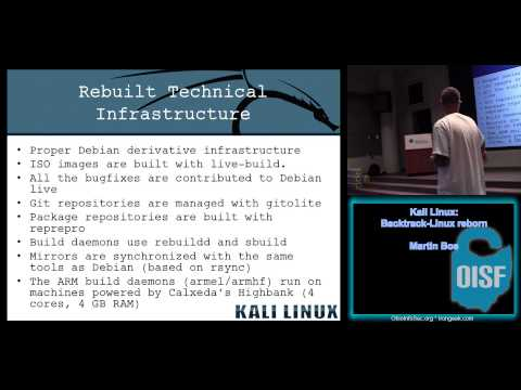 OISF 2013   Martin Bos Kali Linux Backtrack Linux reborn (Fixed Audio)