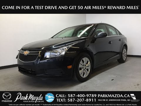 BLACK 2012 Chevrolet Cruze LT Review Sherwood Park Alberta - Park Mazda