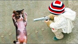 Download MOST Crazy Cats Annoying Babies, If You Laugh You Lose Challenge | BABY AND PET Mp3 and Videos