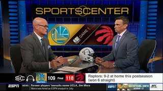 """Download Tim Legler & Windhorst """"explains why"""": Warriors fall to Raptors 109-118 in Game 1 