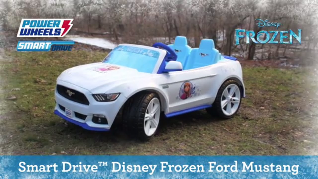 Power Wheels Smart Drive Disney Frozen Ford Mustang Fisher Price
