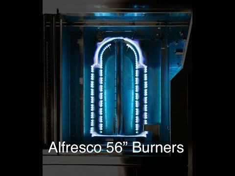 """Alfresco 56"""" Grill Review: The Burners"""
