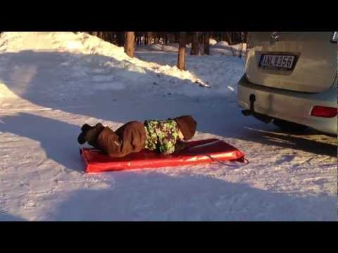Amos & Pappa Ute I Snön!