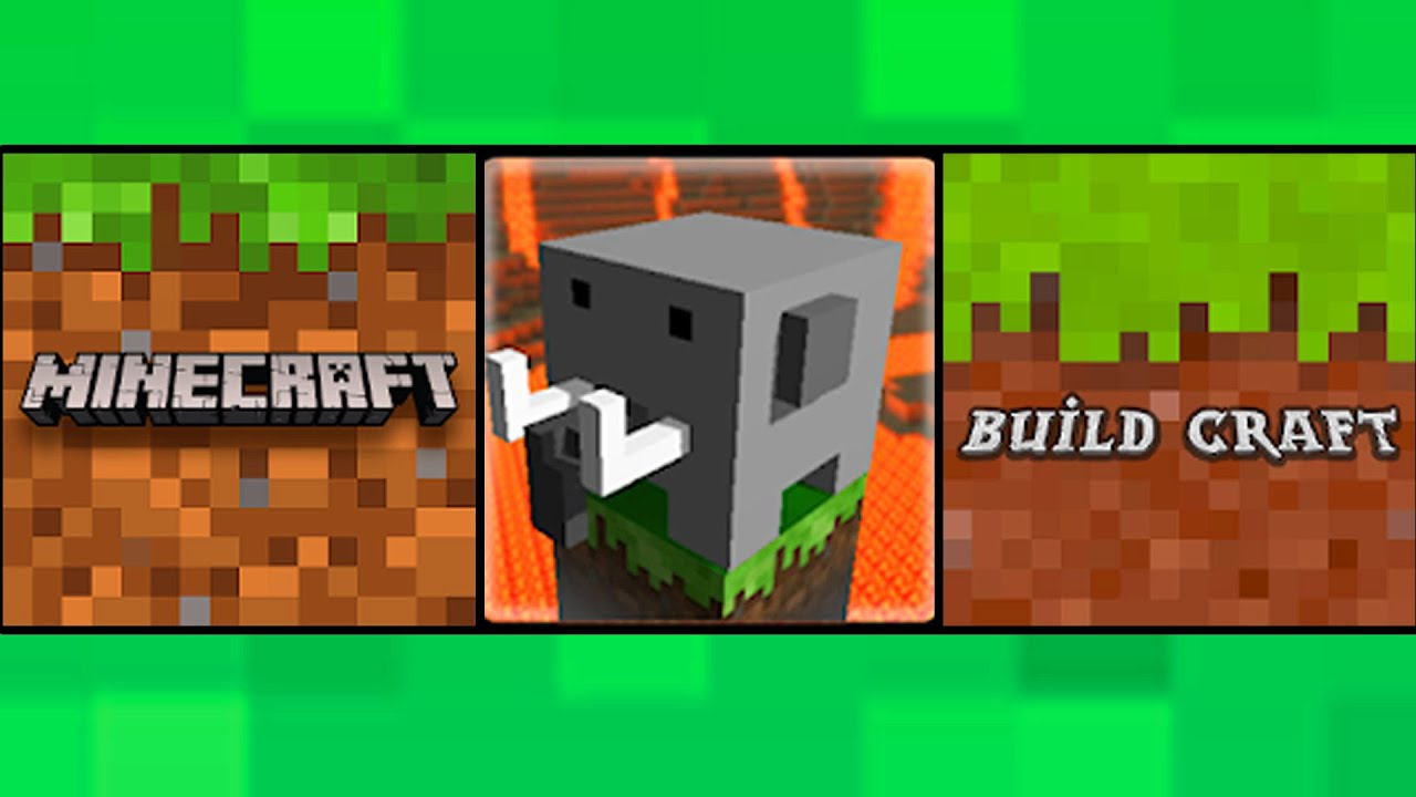 Minecraft PE VS Cube Craft VS Craftsman