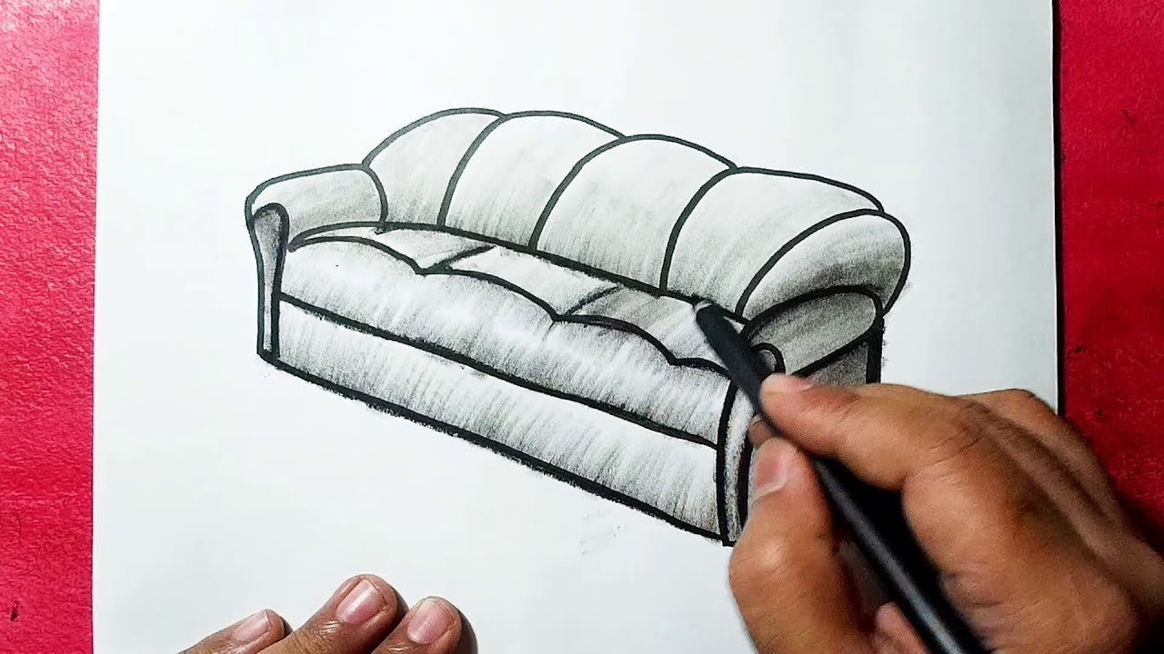 How To Draw A Sofa Like Pro