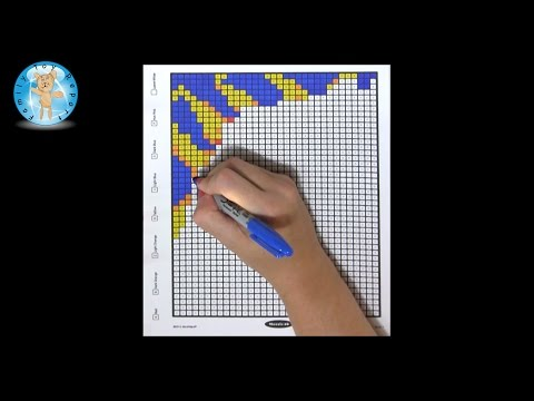 Mindware Mystery Mosaics Book 1 Coloring Book Sample Page Review - Family Toy Report