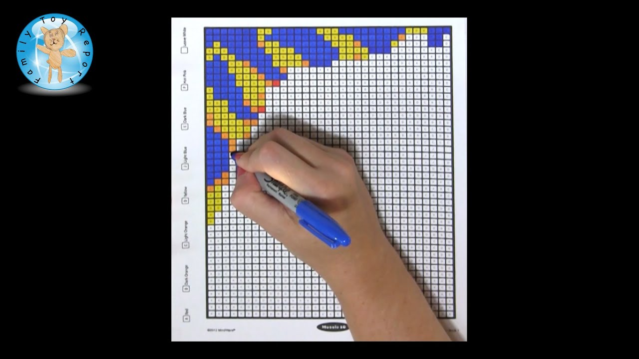 mindware mystery mosaics book 1 coloring book sample page review family toy report youtube - Mindware Coloring Books