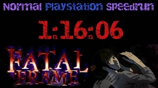 Fatal Frame Normal Speedrun (Playstation) - [1:16:06]