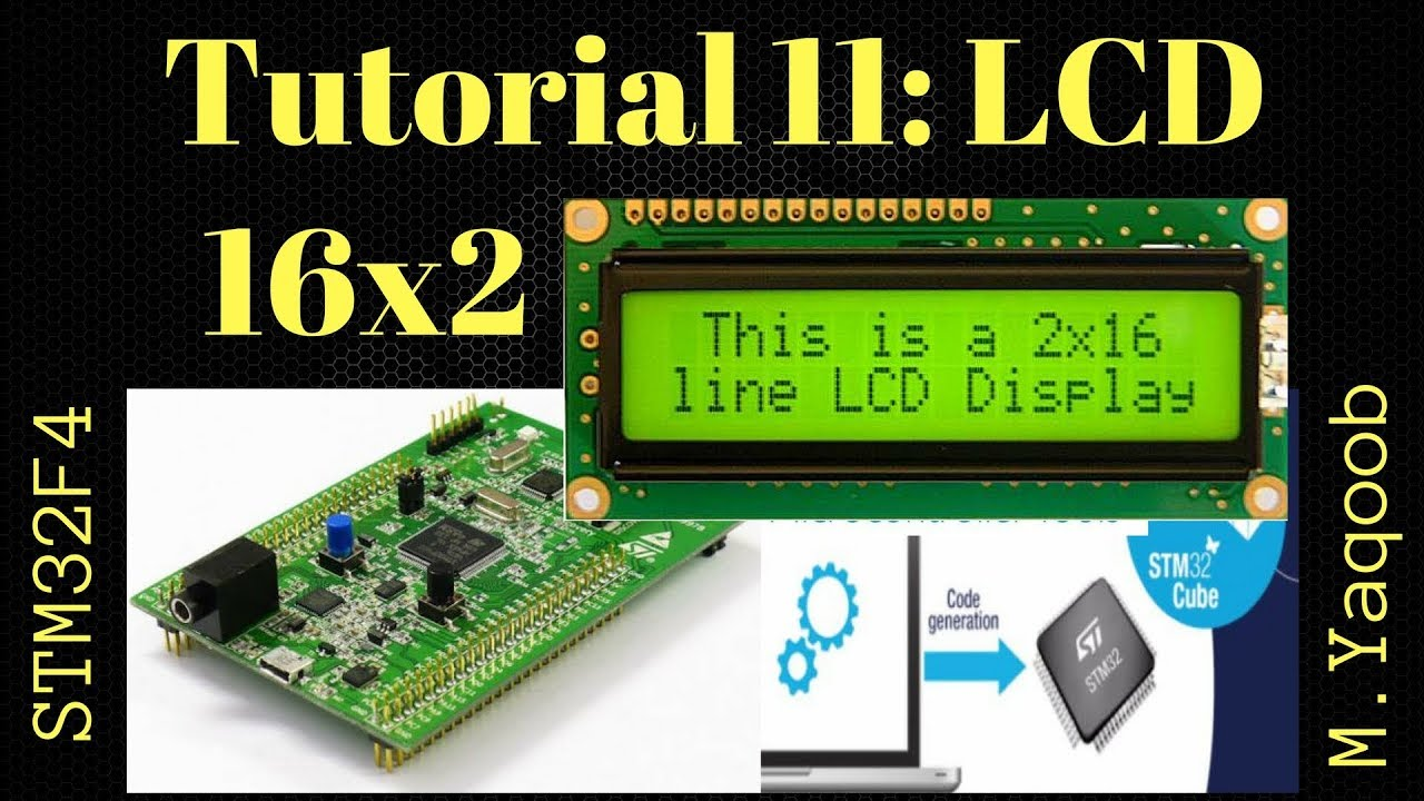 STM32F4 Discovery board - Keil 5 IDE with CubeMX: Tutorial 11 LCD16x2 -  Updated Dec 2017