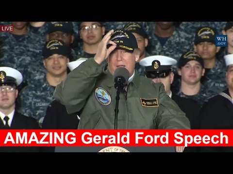 AMAZING: President Donald Trump Speech at USS Gerald Ford in Newport News 3/2/2017 Trump FULL Speech