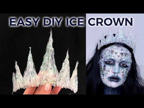 HOW TO MAKE EASY ICE QUEEN CROWN | HOT GLUE + GLITTER