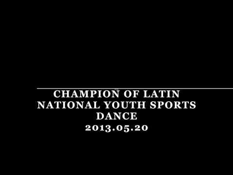 Champion of Latin National Youth Sports Dance Open, China