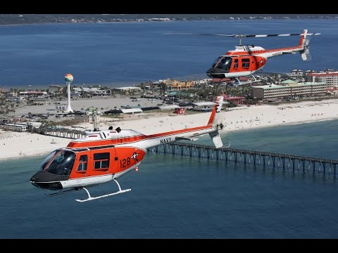 "US Navy TH-57C ""Sea Ranger"", Pensacola Beach, 23Feb17"