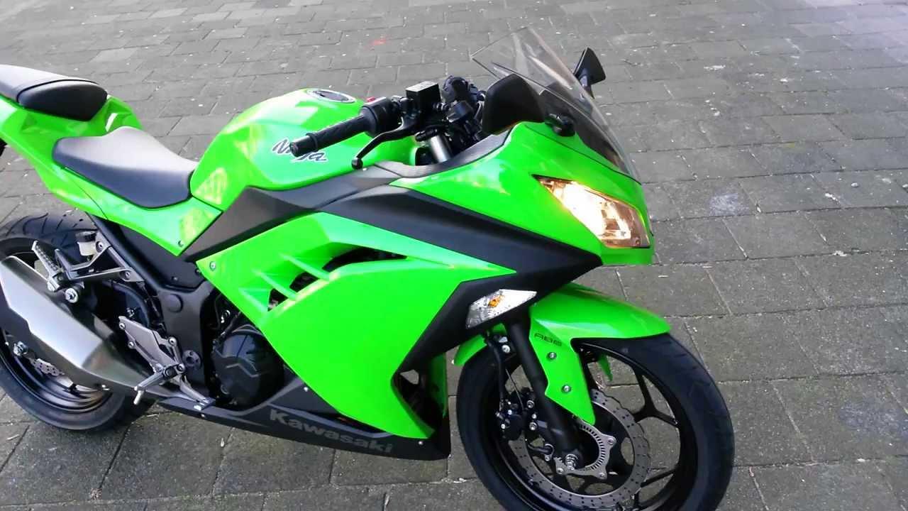 Kawasaki Ninja 300 2014 green 5min just stare  YouTube