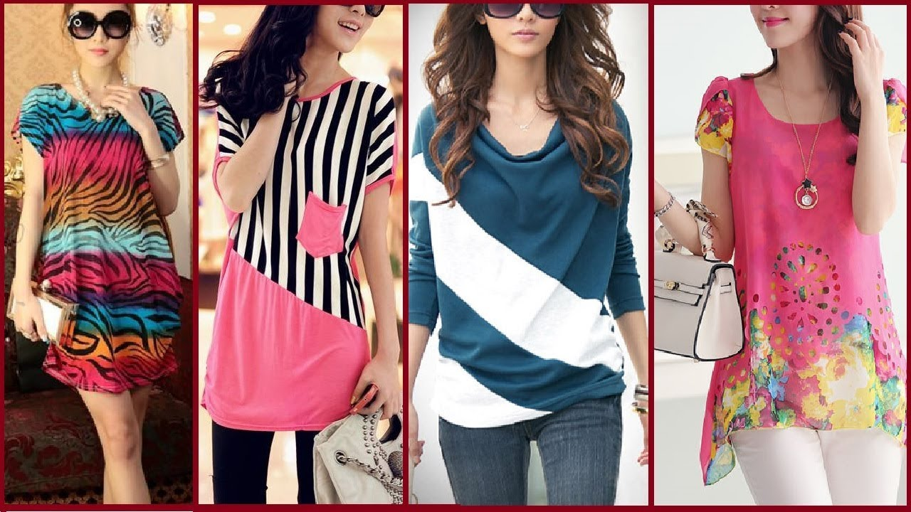 latest 10 stylish tops designs with jeans for girls
