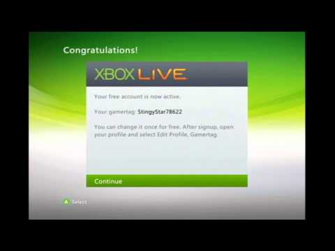Setup Xbox Live Account
