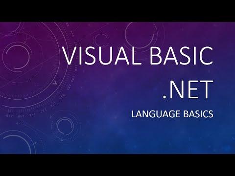 VB.NET Language Basics Tutorial in Filipino/Tagalog