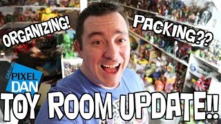 Pixel Dan's Toy Room - Organizing a Mess UPDATE #1
