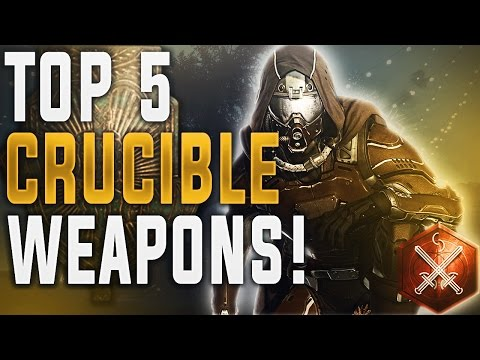 Destiny TOP 5 WEAPONS IN PVP! (Best PvP Weapons For December 2016 Crucible Meta) Rise of Iron.