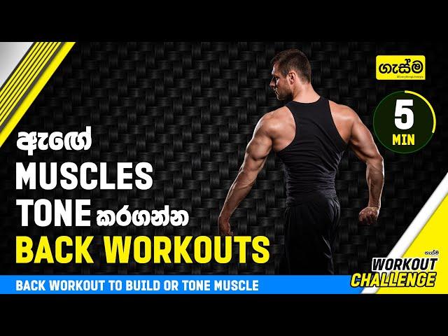 ඇඟේ Muscles Tone කරගන්න Back Workouts
