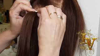 Ленточное наращивание волос. Видеоурок