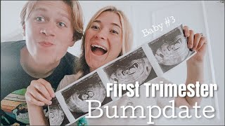 First Trimester Bumpdate & First time seeing the baby! // pregnancy vlogs