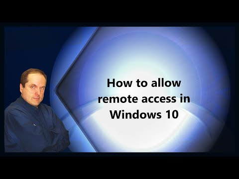 How to allow remote access in Windows 10 - YouTube