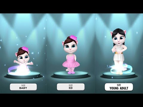 My Talking Angela BABY vs KID vs ADULT Size - Gameplay Great Makeover For Children HD - 동영상