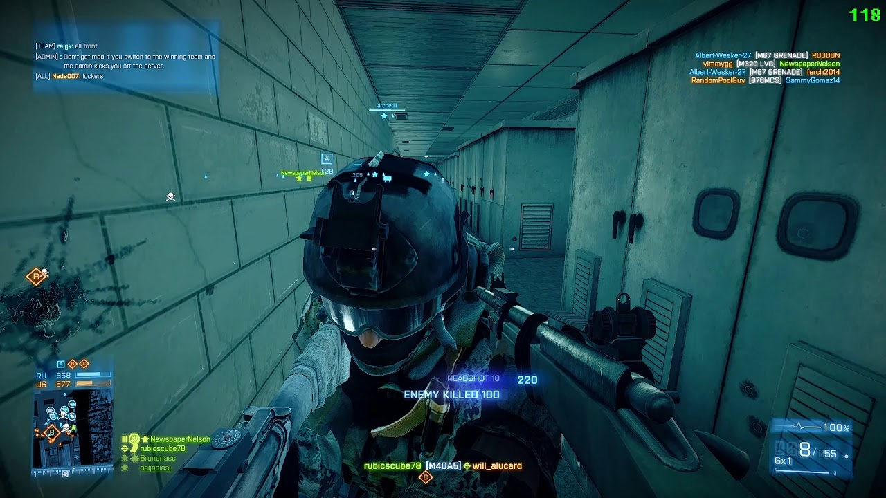 M40a5 Iron Sight Battlefield 3 Xtremenoobs 24 7 Metro Youtube