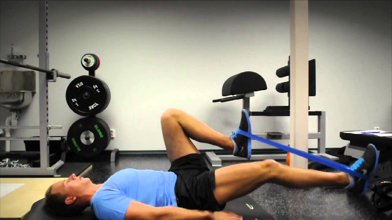 Exercise Index: Hip-flexor Activation with Mini-Band - YouTube