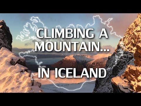 Climbing a mountain (Kristínartindar) in Iceland