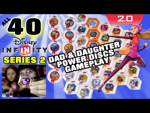 All 40 Series 2 Disney Infinity 2.0 Power Discs Gameplay (Dad & Daughter Commentary w/ Face Cam)