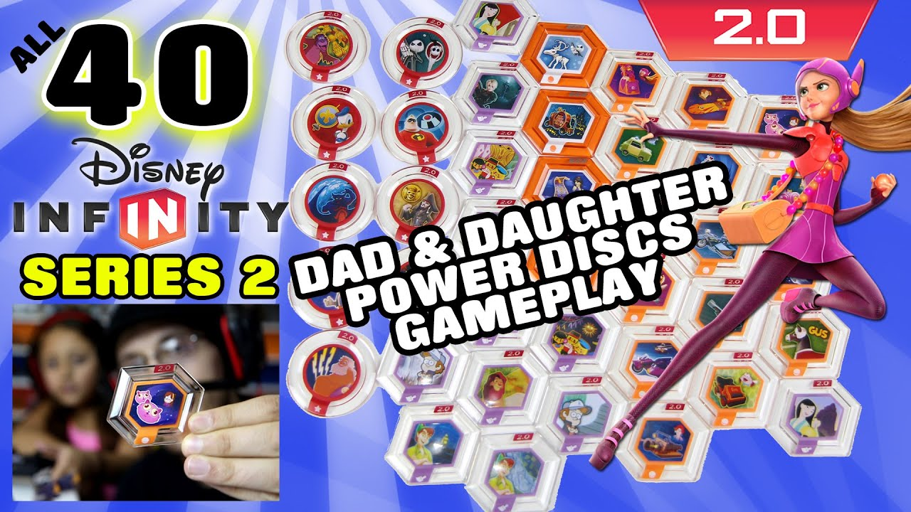 All 40 Series 2 Disney Infinity 20 Power Discs Gameplay Dad