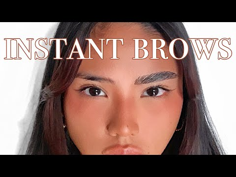 EASY INSTANT FLUFFY BROWS! stubborn asian eyebrows 😤