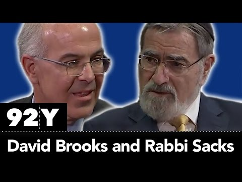 Finding A Moral Compass In Challenging Times: David Brooks With Rabbi Lord Jonathan Sacks