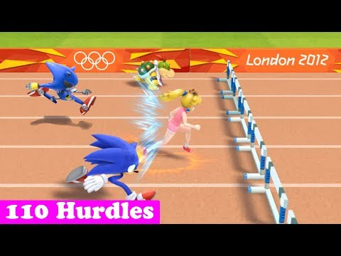 Mario & Sonic At The London 2012 Olympic Games Athletics - 110m Hurdles (All Characters)