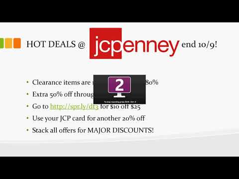 RUN!  HOT DEALS At JCPenney End 10-9-2017