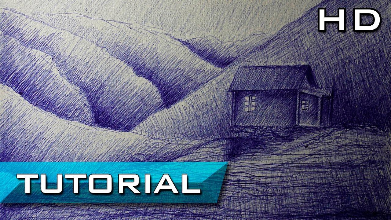 Cmo Dibujar un Paisaje Fcil y Bonito para Nios con Bolgrafo