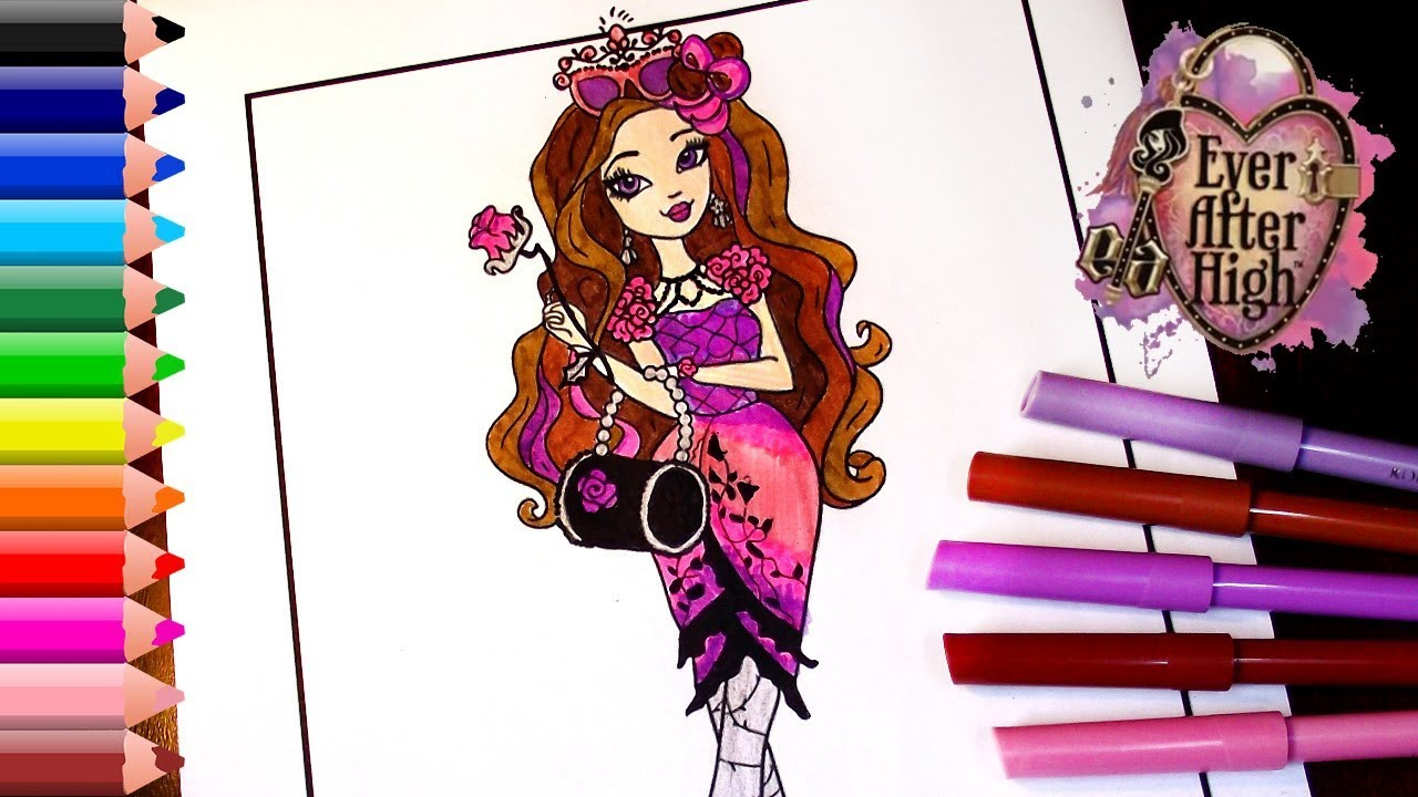 Ever After High COLORING Pages For Kids Coloring Book