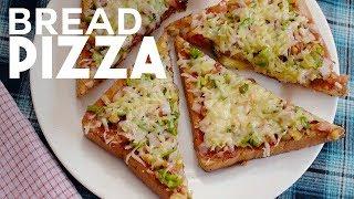 Cheese Burst Bread Pizza Recipe   Quick and Easy Bread Pizza   Bread Pizza Recipe by Raj