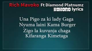 Rich Mavoko Ft Diamond Platnumz - Kokoro ( Lyrics )
